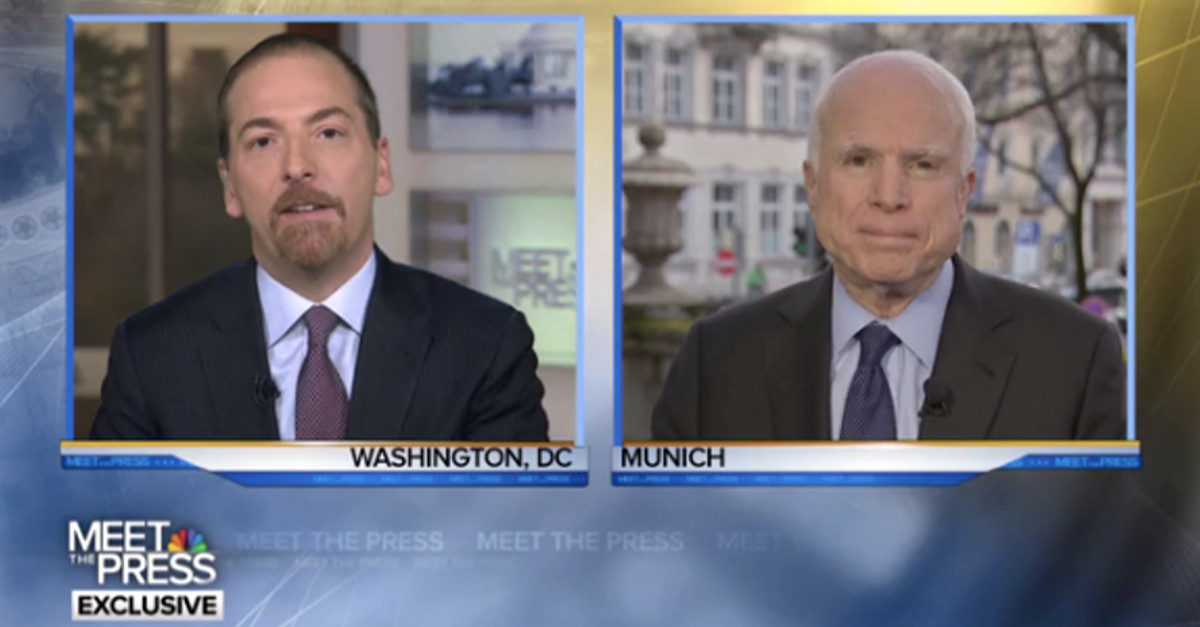 John McCain defends a free press as essential to democracy