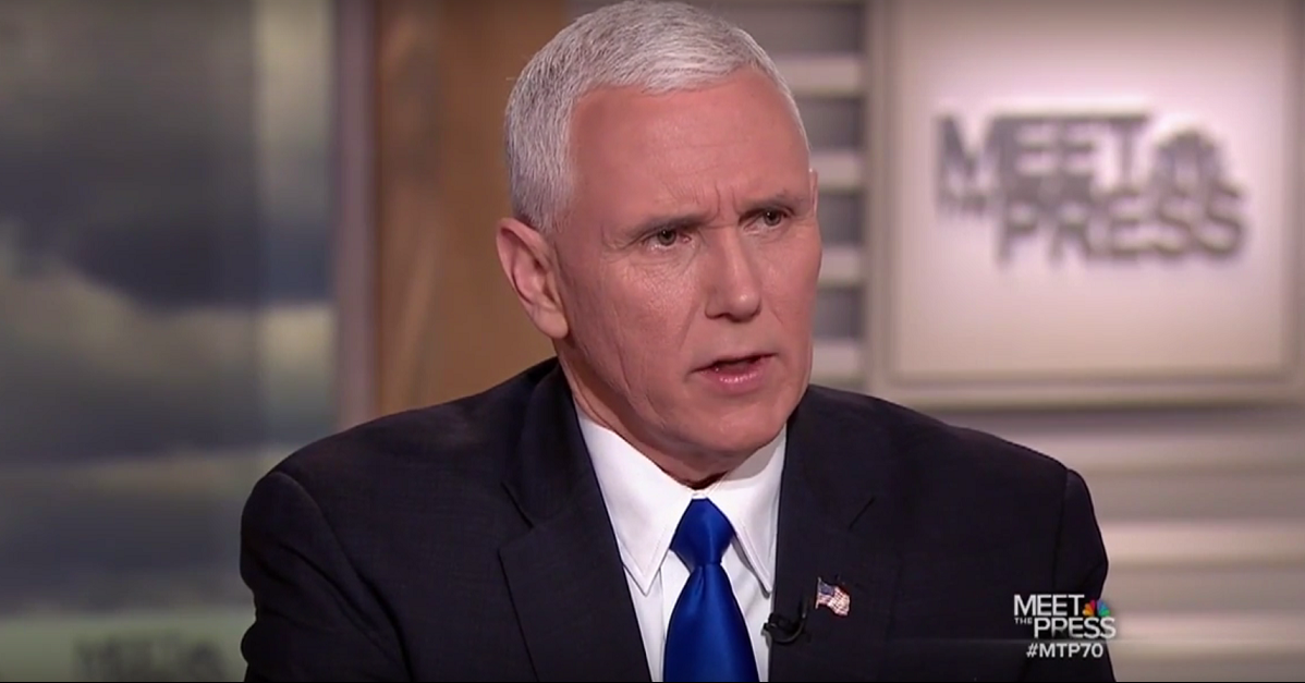 """Vice President Mike Pence remains confident about immigration ban, says """"It was not done hastily"""""""