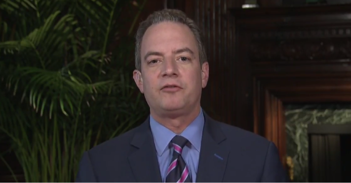 "Reince Priebus slams ""total garbage"" stories and the ""enemy"" media on ""Face the Nation"""