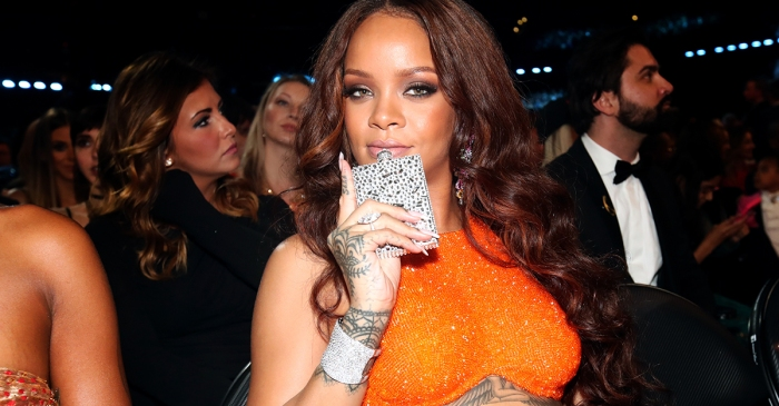 Rihanna brought a bedazzled flask to the Grammys and proved that you don't have to win to have the best time