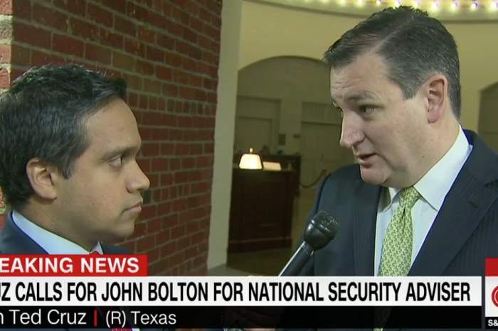 "Ted Cruz says John Bolton is ""reluctant"" to start wars and should be Trump's new national security adviser"