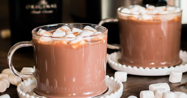 We can't get enough of this Bailey's hot chocolate that's made in a slow cooker