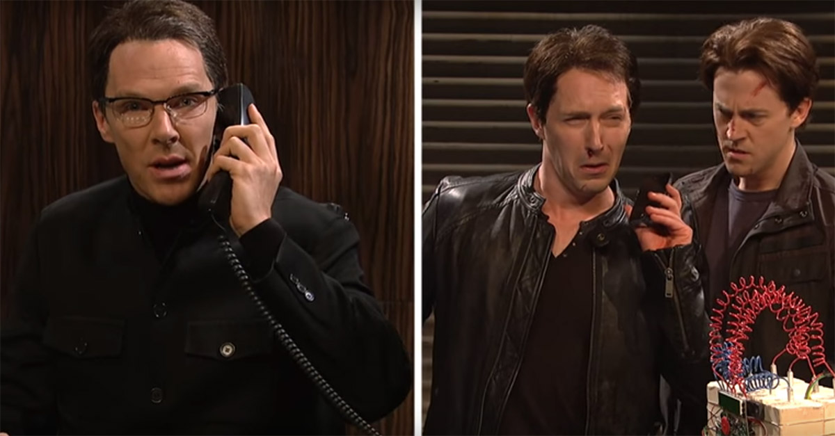 "Benedict Cumberbatch is a riddle-spinning criminal mastermind, but his subordinates question his methods in this ""SNL"" sketch"