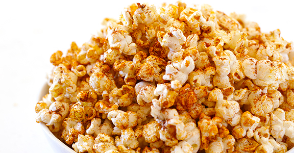 Finally, a use for all that leftover taco seasoning — use it to make taco popcorn