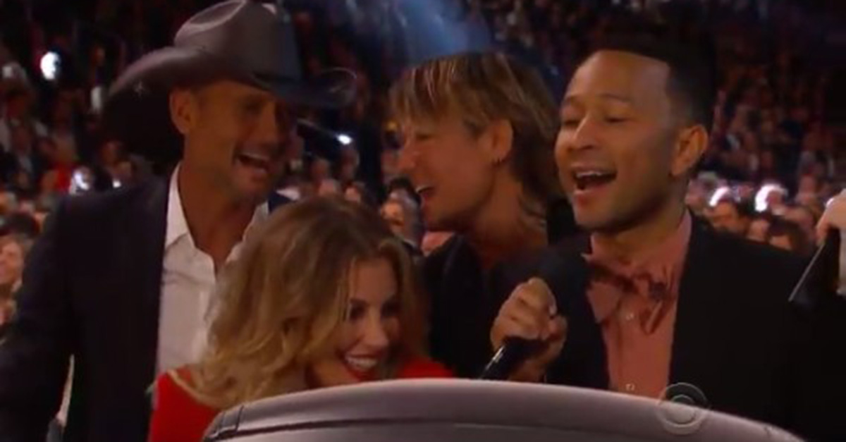 This all-star singalong of a karaoke classic has never sounded as fun as it did at the Grammys