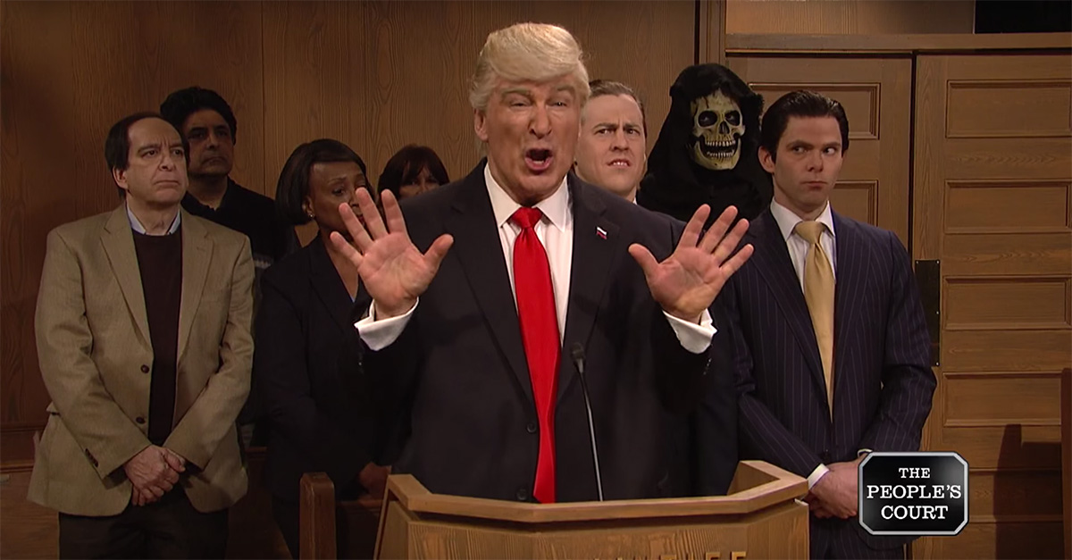 """""""SNL's"""" President Trump takes the travel ban to the court he trusts the most: """"The People's Court"""""""