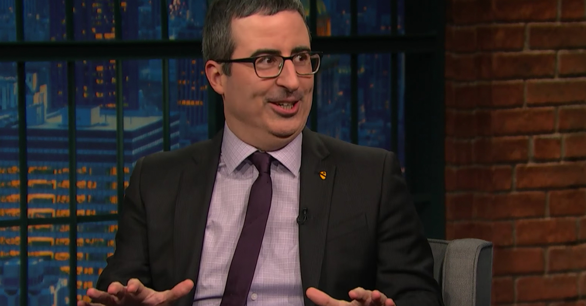 In between jabs at President Trump, John Oliver made a big critique of President Obama