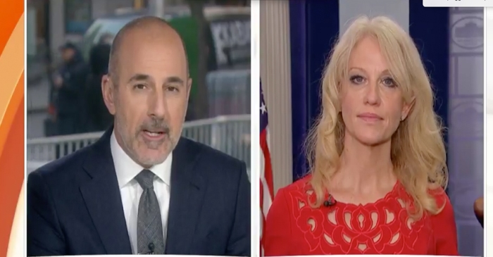 "Matt Lauer gets into it with Kellyanne Conway over Michael Flynn: ""That makes no sense"""