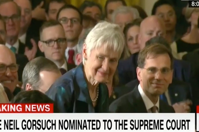 As President Trump announced his pick for the Supreme Court, he took time to honor the widow of Antonin Scalia