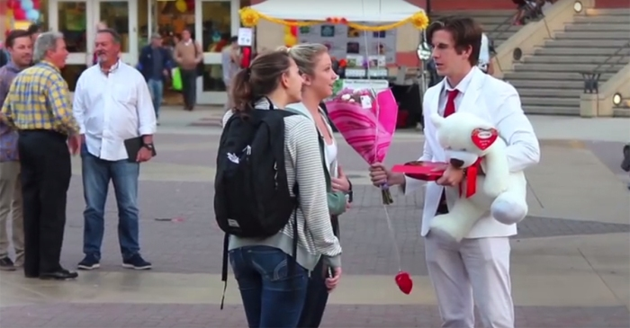 Pranksters Decided to Ask Random People to be Their Valentines, Their Dramatic Reactions to Rejection are Hilarious!