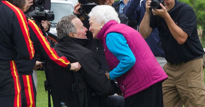George H.W. Bush and Barbara Bush's marriage has reached a milestone that's made presidential history
