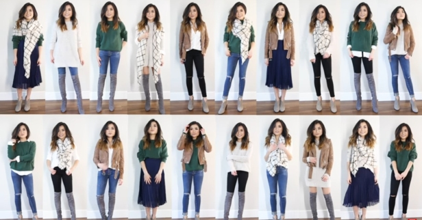 With just 10 pieces of clothing, she makes outfits for the whole month