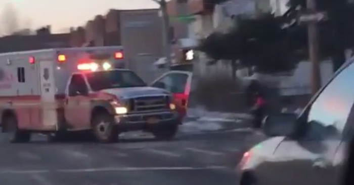 An FDNY medic was horrifically crushed by her own ambulance after a man hijacked the vehicle