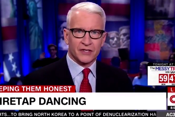 Anderson Cooper came out swinging with this blunt statement about President Trump's wiretapping claim