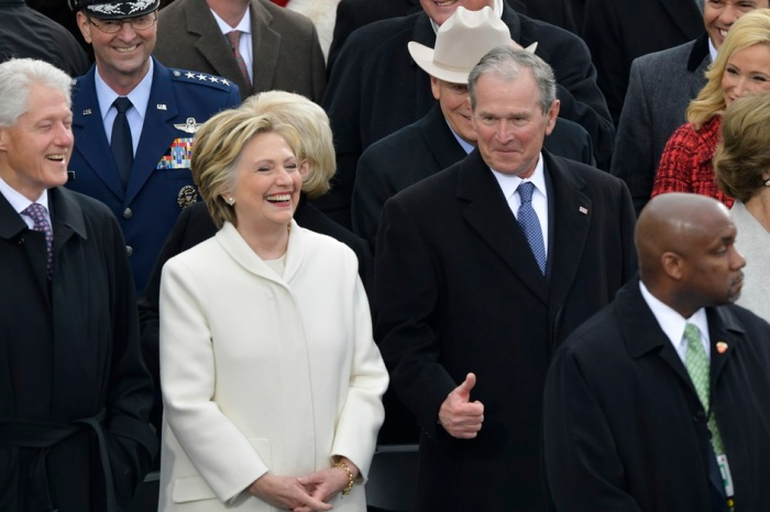 """Former President George W. Bush reportedly said President Trump's inauguration was """"some weird s**t"""""""