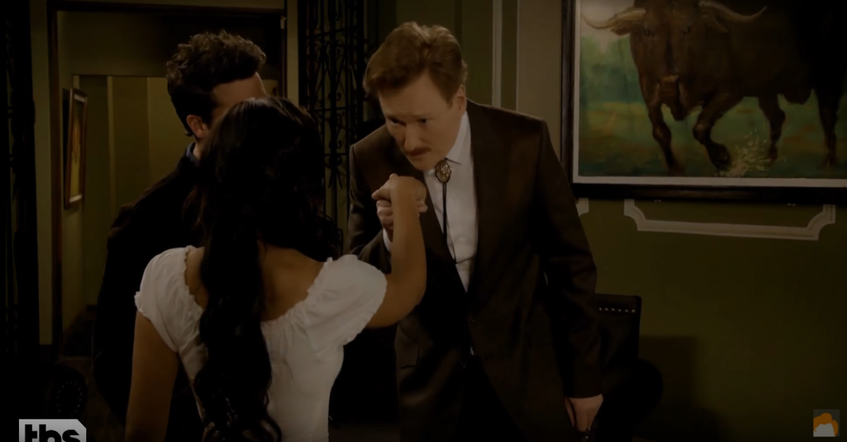 Conan dons a fake mustache and gets steamy in a Mexican soap opera