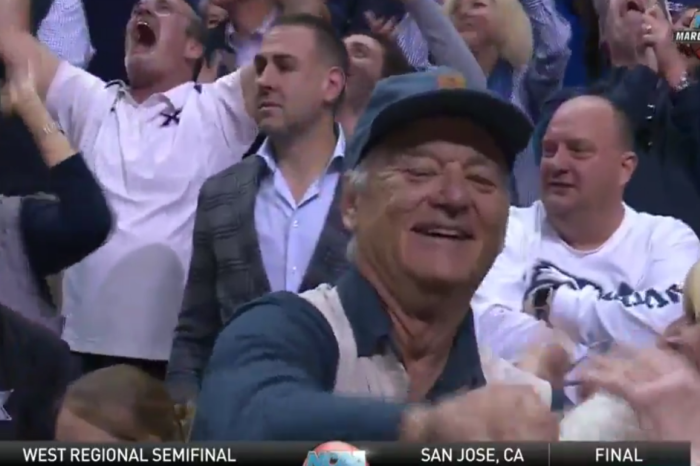 Bill Murray captures our hearts, once again, as he cheers on his son to an upset NCAA basketball victory