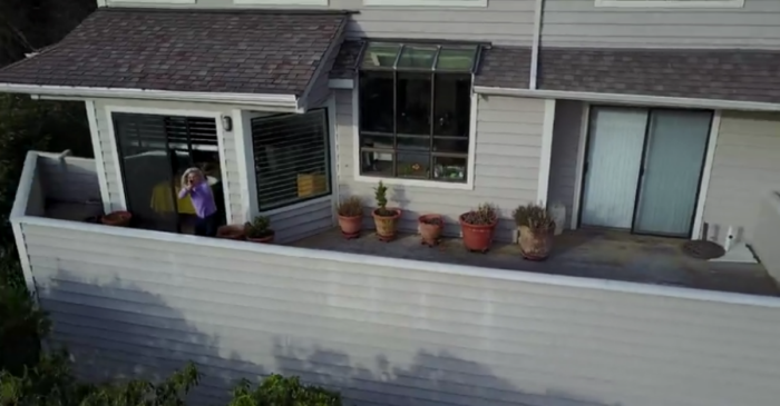 When she saw a drone hovering outside, she grabbed the family rifle and unloaded