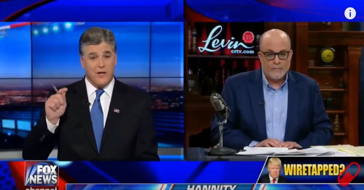 "Mark Levin unloads on the media for not ""being concerned"" about possible wiretapping"