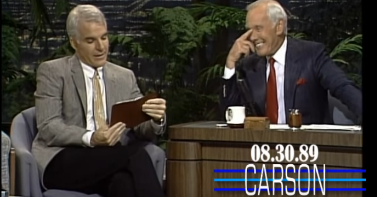 Remember When Steve Martin Read Funny Memories From His Diary on The Tonight Show Starring Johnny Carson
