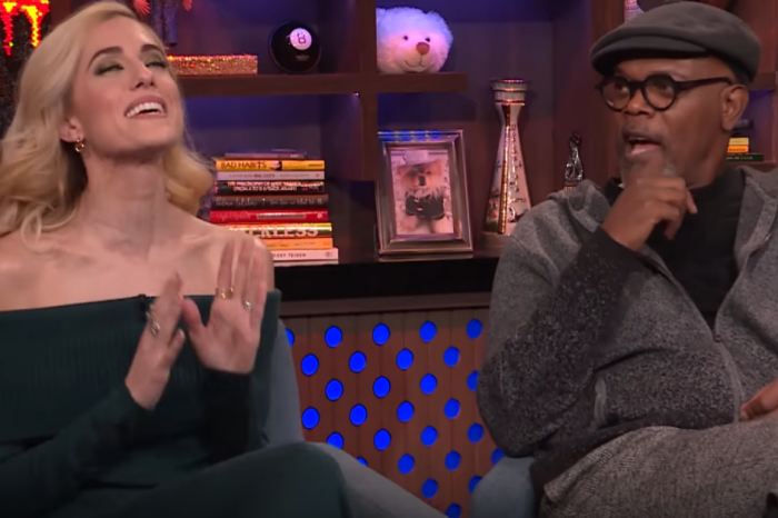 Allison Williams and Samuel L. Jackson argue about awkward sex scenes in this NSFW clip