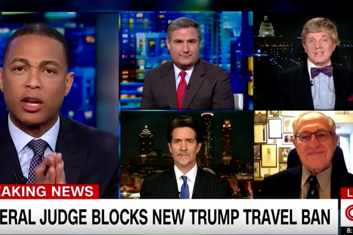 "CNN panel torpedoes into travel ban chaos: ""I never want to be on the show with this bigot again"""