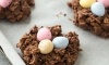 easter no bake birds nest cookies
