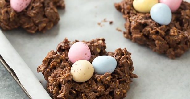 No-bake bird's nest cookies are your easy Easter treat
