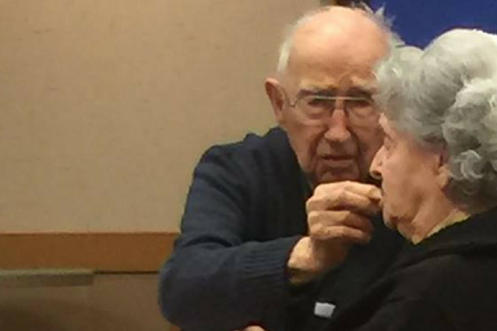 Wait until you hear the sweet story behind this viral photo of an elderly couple on date night