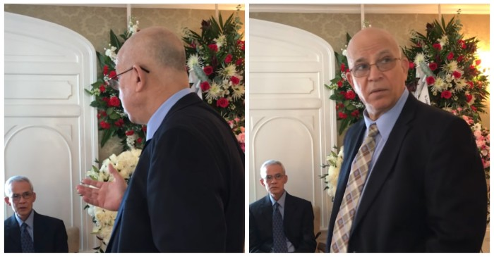 He showed up at a stranger's funeral with his girlfriend, and it got worse from there