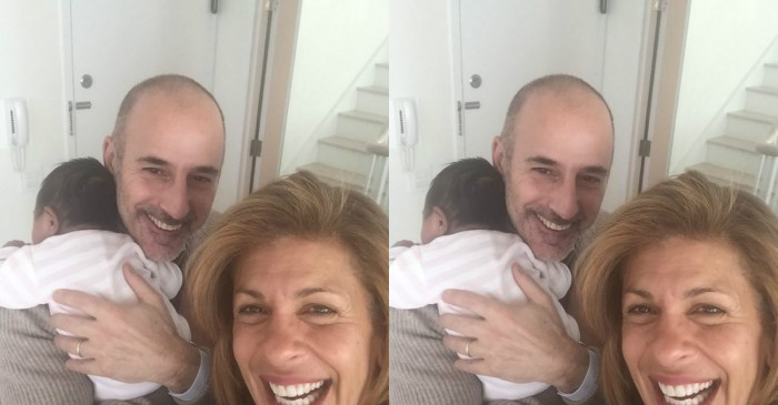 Hoda Kotb's newborn baby girl officially got to meet her Uncle Matt Lauer and she totally stole his heart