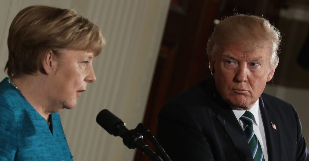 Donald Trump reportedly gave German Chancellor Angela Merkel a bill for NATO, and it's huge