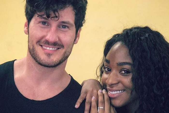 """After days of deliberation, """"DWTS"""" duo Val Chmerkovskiy and Normani Kordei reveal a new team name"""