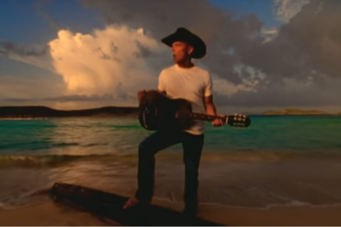 Kenny Chesney took it to the beach in this '90s feel-good music video