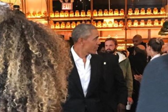 Barack and Michelle Obama were spotted in NYC having lunch with a famous musician