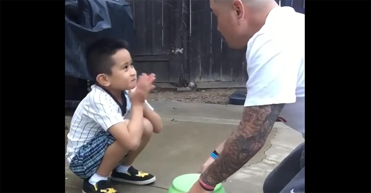 Watch this dad's gross prank backfire