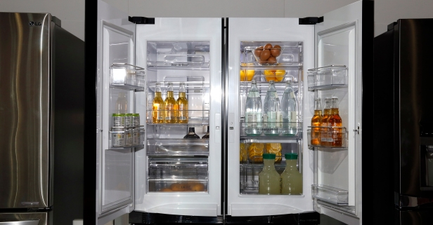 With $50 and a few hours, you can make your old fridge look like a brand new model