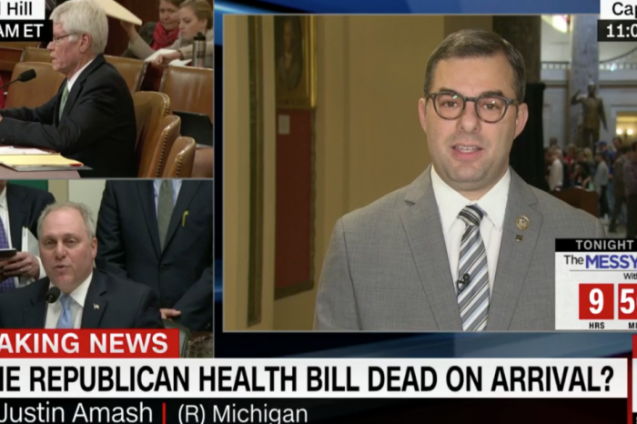 "Rep. Justin Amash: GOP is ""taking the Obamacare framework and trying to call it a Republican piece of legislation"""