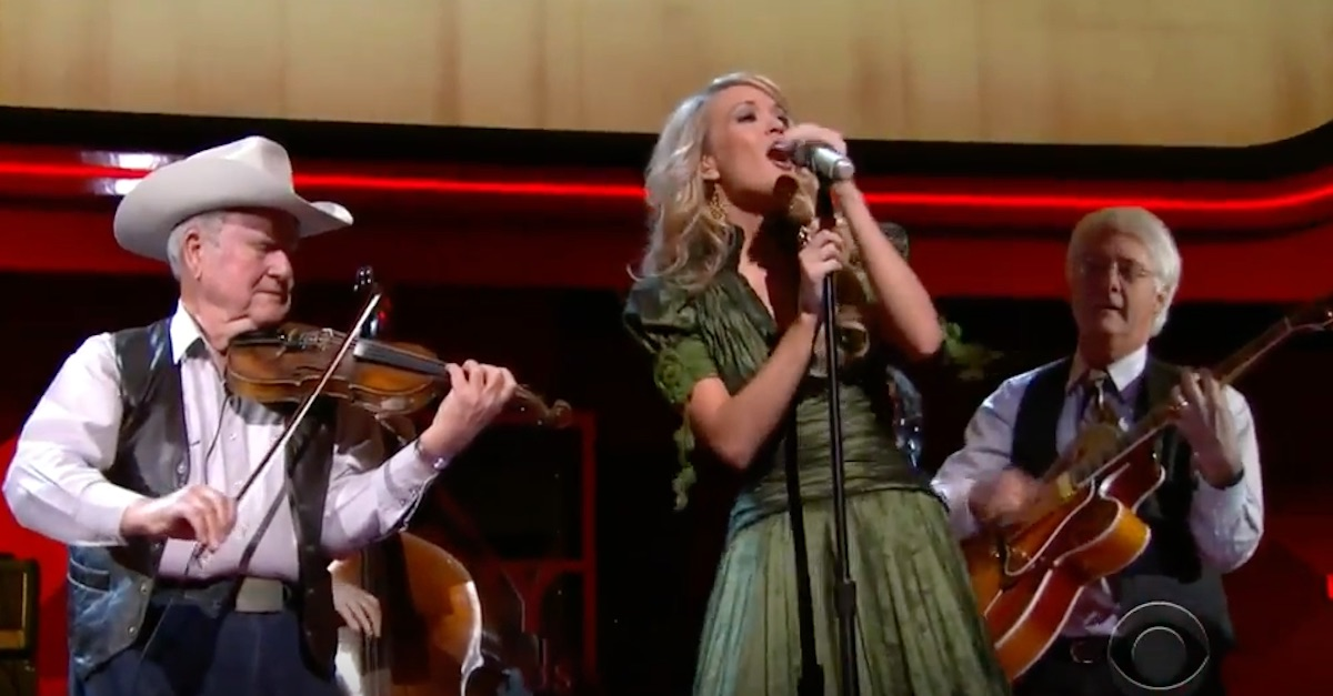 "Carrie Underwood proves she can do anything with this ""broken song of love"""