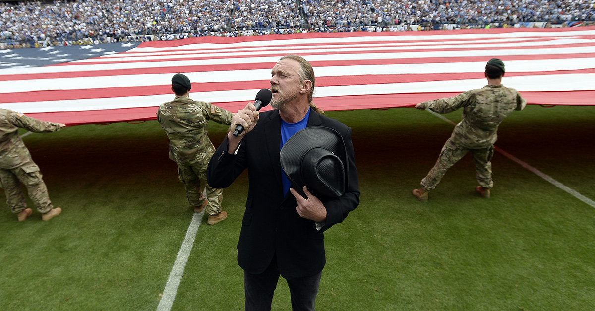 Trace Adkins sings out for the American military in patriotic new song