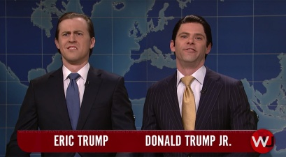 "Flashback to ""The Trump Boys"" Stop by SNL's Weekend Update"