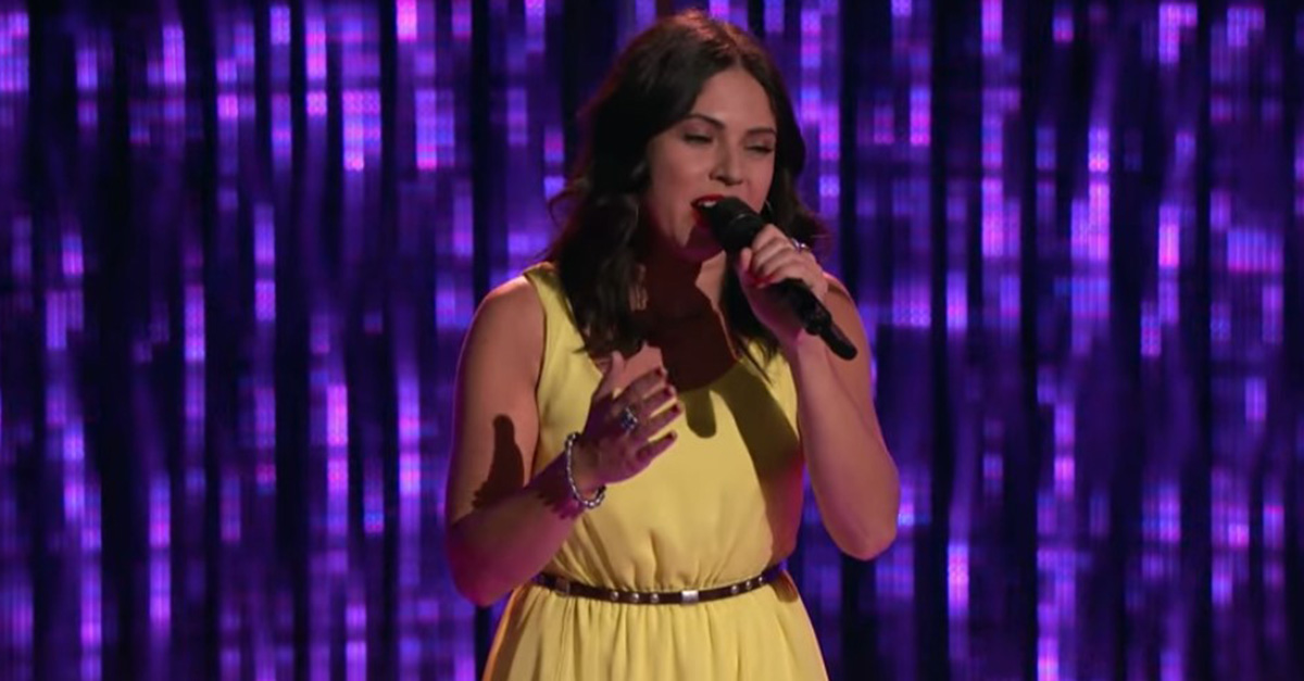 "Watch a ""The Voice"" contestant win over all four coaches with this blind audition"