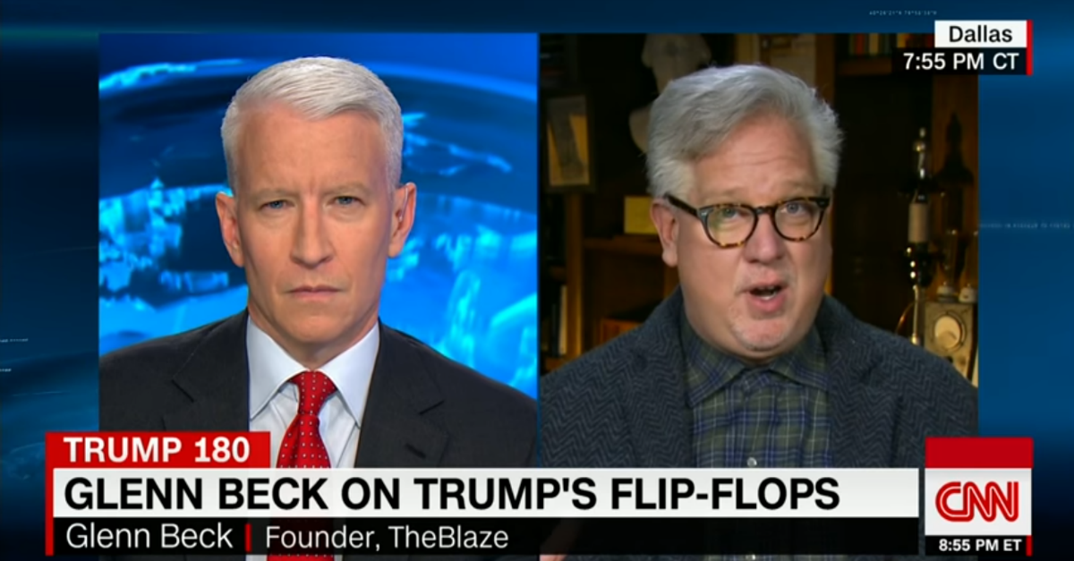 "Glenn Beck says that President Trump is ""on the verge"" of looking like just another Republican president"