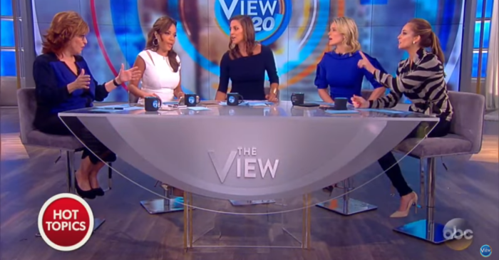 "Much like the rest of America, ""The View"" couldn't agree on their thoughts about the US airstrike in Syria"