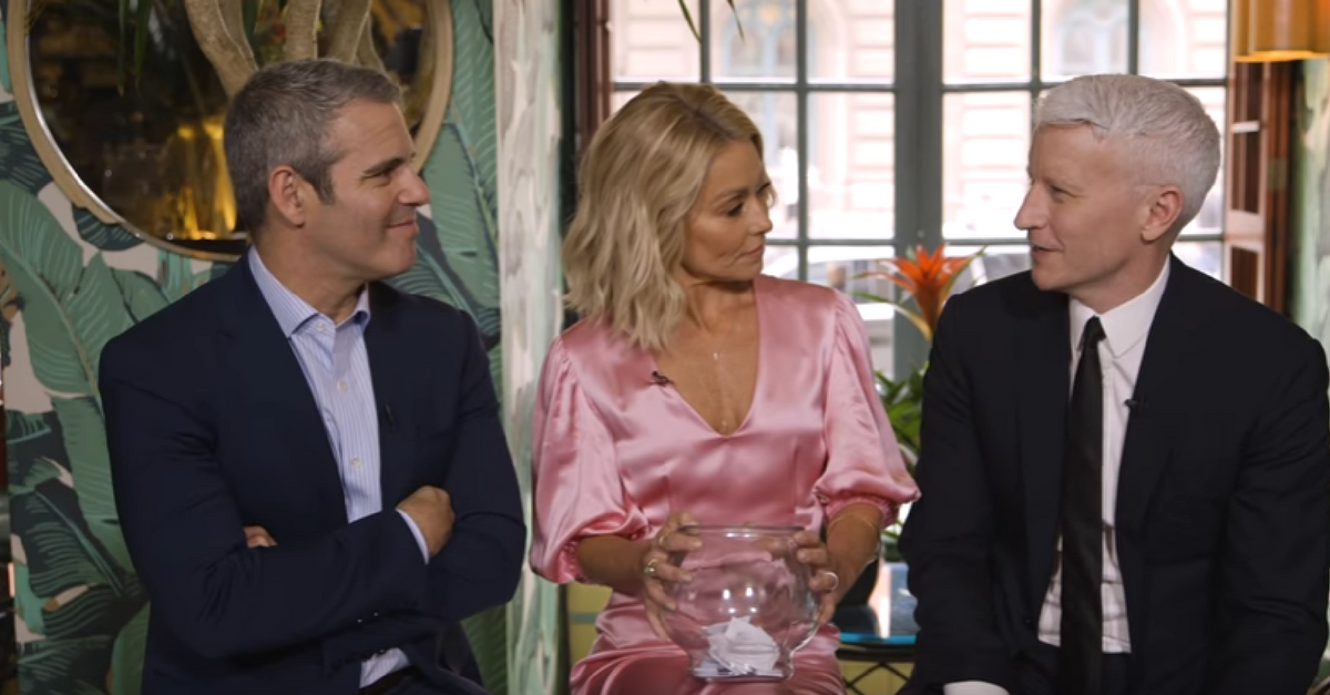 Anderson Cooper won't admit if he's ever done this on-air, but Kelly Ripa and Andy Cohen have