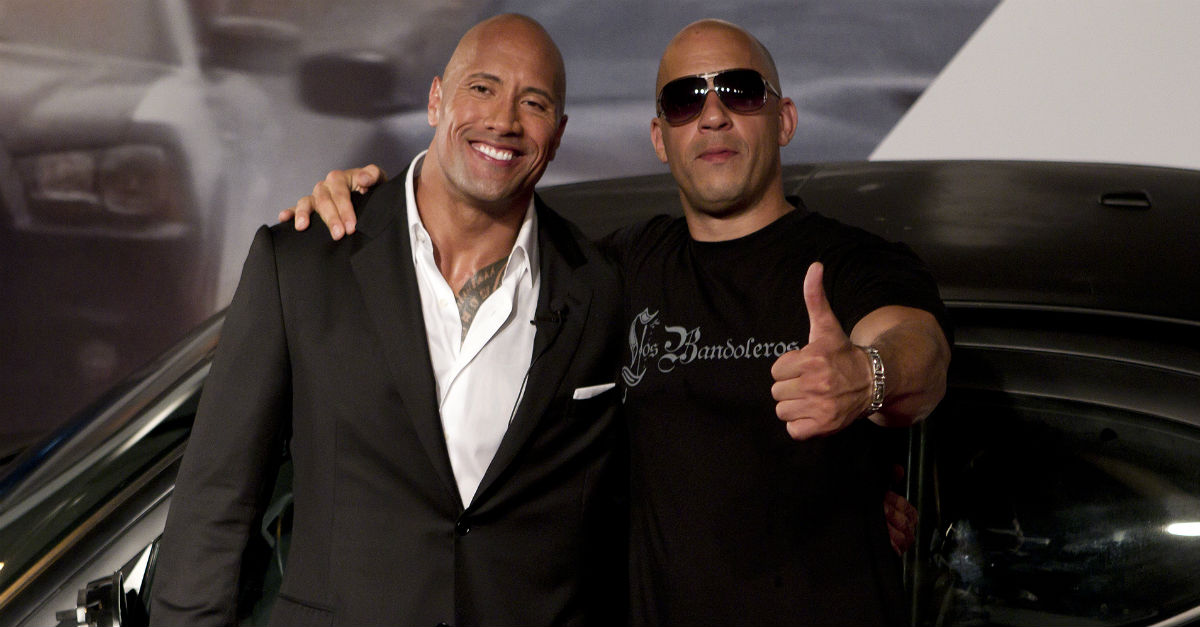 "What's going on between Dwayne ""The Rock"" Johnson and his ""Fast and Furious"" costar Vin Diesel?"