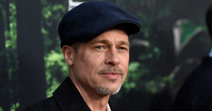 According to sources, Brad Pitt was caught being pretty flirty with one of Hollywood's leading ladies