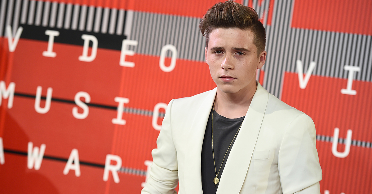 Brooklyn Beckham followed in his famous father's footsteps with this new move