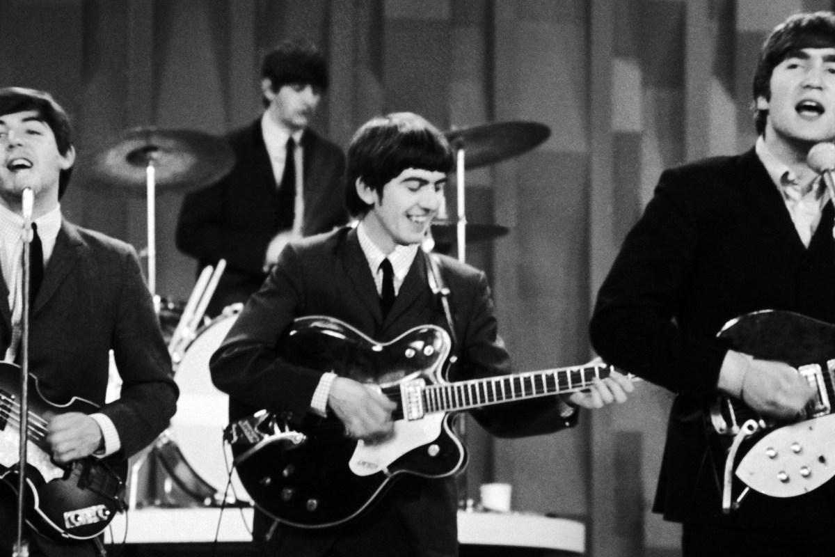 Paul McCartney, George Harrison and John Lennon. Ringo Starr