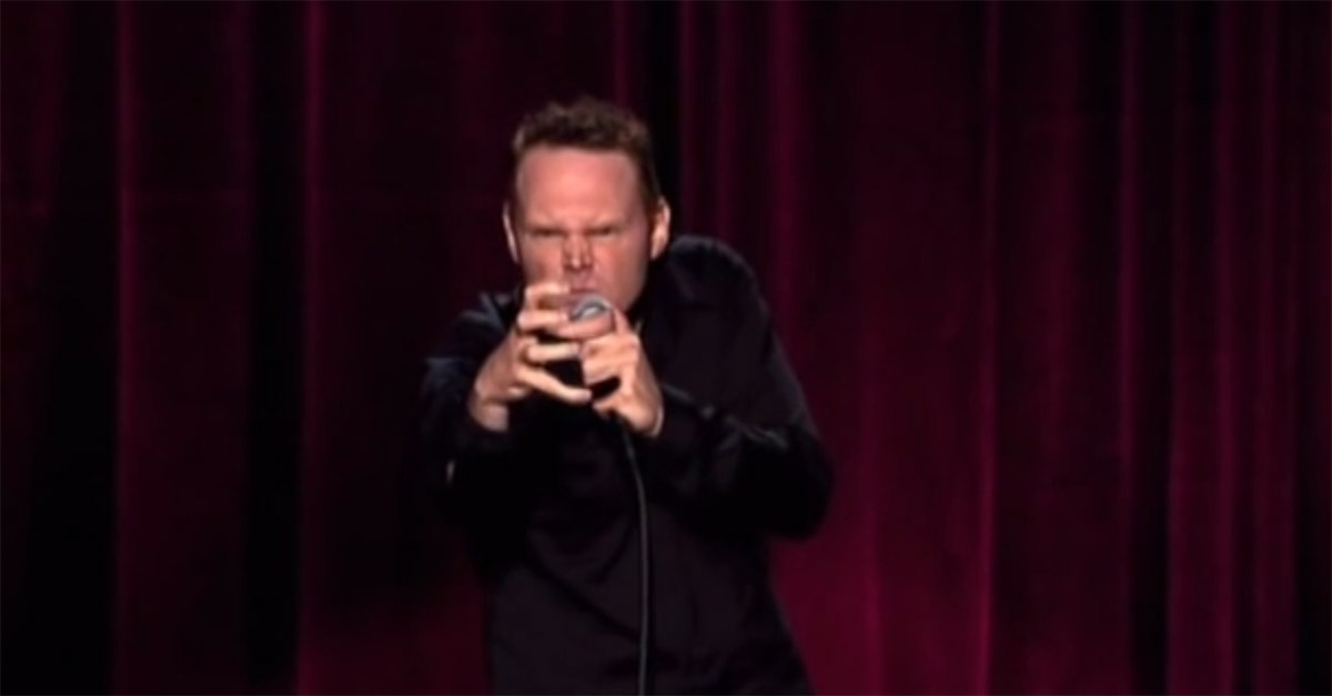 Bill Burr goes meta and talks about getting mad over stupid things